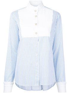 рубашка в полоску с высоким воротом  Macgraw