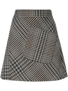 юбка с узором в ломаную клетку Etro