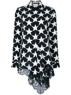рубашка с кружевной вставкой Givenchy