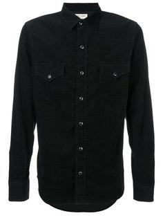 рубашка в стиле вестерн из мелкого вельвета Saint Laurent