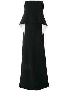 вечернее платье с каскадной деталью Givenchy