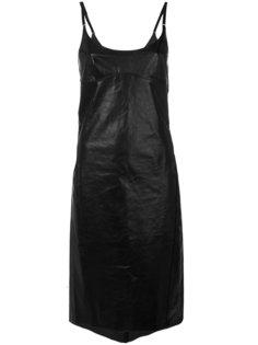 расклешенное платье из кожи Nina Ricci