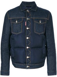 джинсовая куртка с пуховой вставкой Dsquared2