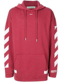 diagonal stripe hoodie Off-White