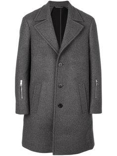 однобортное пальто Neil Barrett