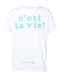 футболка с принтом cest la vie Off-White
