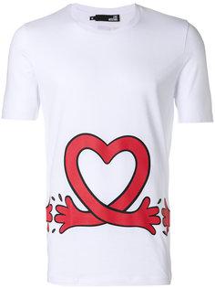 футболка с принтом сердца Love Moschino