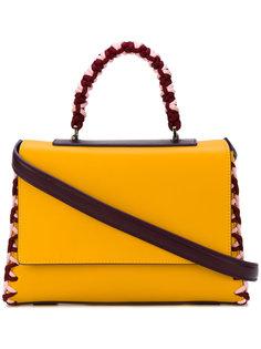 сумка-тоут с плетеной отделкой Emilio Pucci