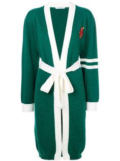 кардиган-пальто с вышивкой на груди Vivetta