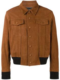 коричневая куртка Saint Laurent