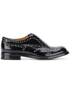 туфли на шнуровке с заклепками Churchs