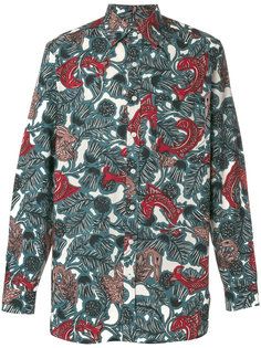 рубашка с принтом рыб Burberry