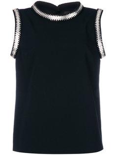 блузка с металлическими деталями Dsquared2