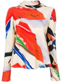 расклешенная блузка с принтом  Giorgio Armani