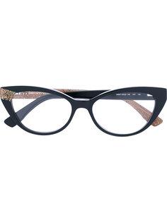 очки в оправе формы кошачий глаз Jimmy Choo Eyewear