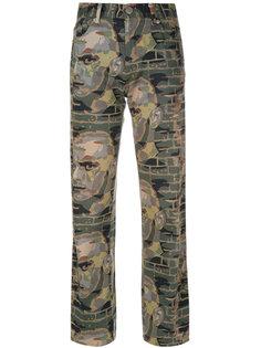 брюки с принтом Face Jean Paul Gaultier Vintage