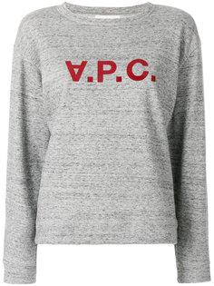 свитер с принтом A.P.C. A.P.C.
