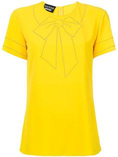 футболка с вышитым бантом  Boutique Moschino