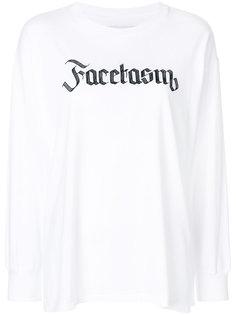 logo print sweatshirt Facetasm