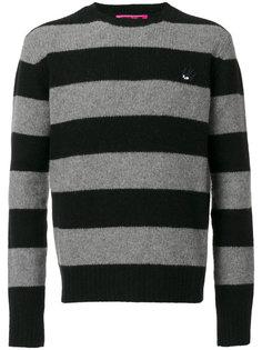 полосатый пуловер с заплаткой в виде ласточки McQ Alexander McQueen