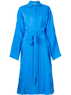 платье-рубашка свободного кроя с поясом Nina Ricci