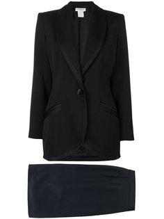 костюм с лацканами-шалька и юбкой Yves Saint Laurent Vintage