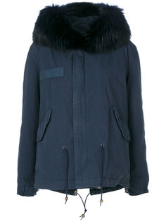 fur trim hooded coat Mr & Mrs Italy