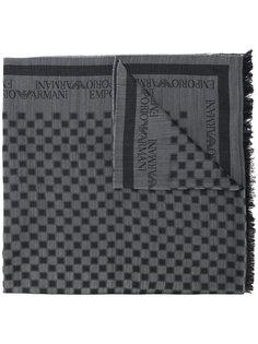 шарф в клетку Emporio Armani