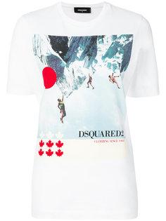футболка с принтом гор Dsquared2