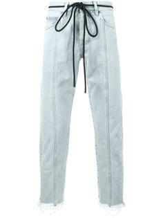джинсы с диагональными вставками Off-White