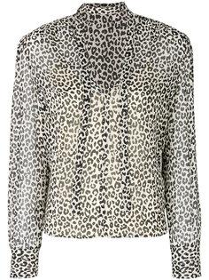 блузка с леопардовым принтом Red Valentino
