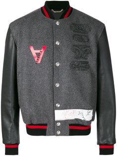 куртка-бомбер с вышивкой Versace