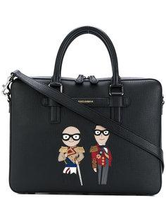 портфель с нашивками стилистов Dolce & Gabbana
