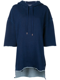 three-quarters sleeve loose-fit hoodie The Upside