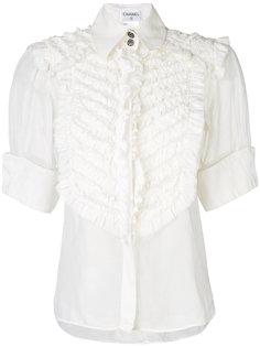 рубашка с короткими рукавами и оборкой  Chanel Vintage