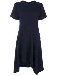 асимметричное платье с короткими рукавами Proenza Schouler
