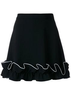 юбка с оборками по краю  Boutique Moschino