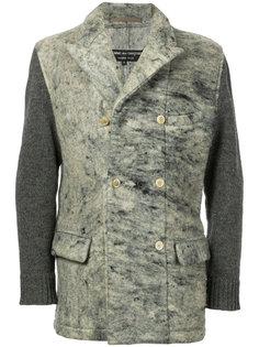 пиджак с трикотажными рукавами Comme Des Garçons Vintage