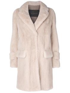 flap pockets fur coat Blancha
