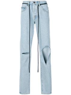 джинсы с необработанным краем Diag Off-White