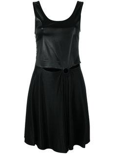 расклешенное платье с вырезным дизайном Paco Rabanne
