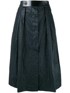 юбка длины миди с кожаным поясом Outsource Images