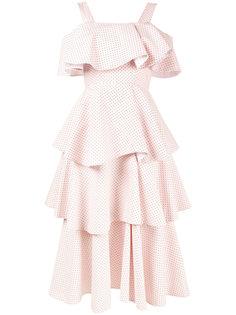 многоярусное платье с открытыми плечами Huishan Zhang