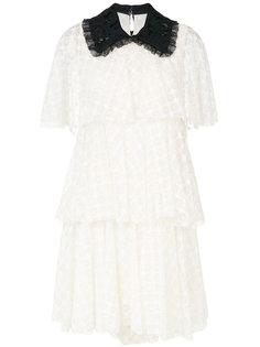 кружевное платье с контрастным воротником Philosophy Di Lorenzo Serafini