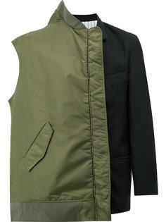 многослойный бомбер-пиджак Moohong