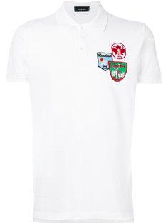 футболка-поло с нашивками  Dsquared2