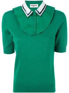 contrast collar knitted top Essentiel Antwerp