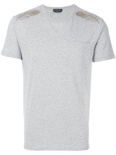футболка с вышитым пером Alexander McQueen
