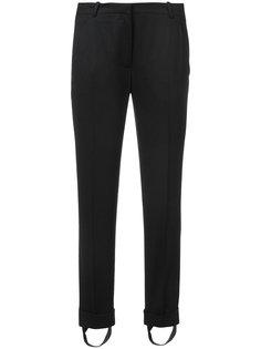 брюки с подворотами Carven