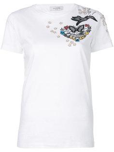 футболка с сердцем  Valentino